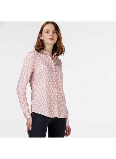 Lacoste Kadın Desenli Gömlek CF0126.26P Pembe